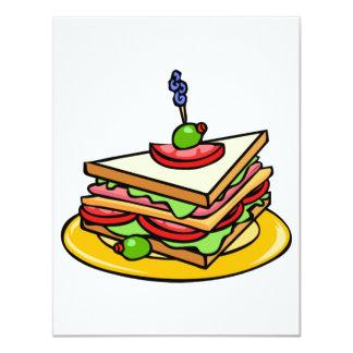 Convites do sanduíche do triângulo