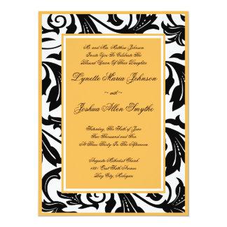 Convites elegantes do casamento da cera de abelha convite 13.97 x 19.05cm