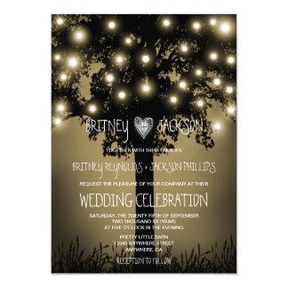 Convites Enchanted rústicos do casamento do