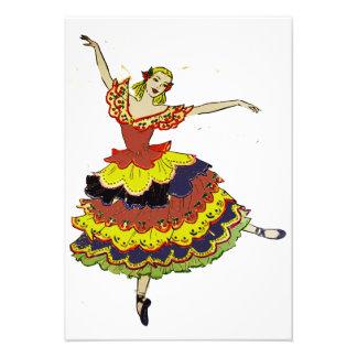 Convites espanhóis da bailarina