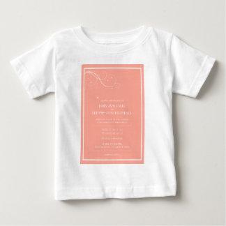 Convites feitos sob encomenda do casamento camiseta para bebê