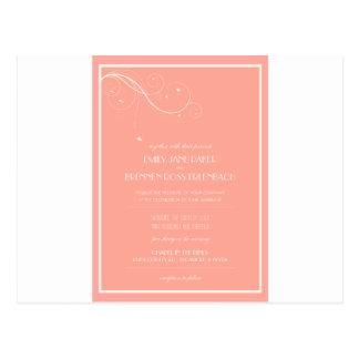 Convites feitos sob encomenda do casamento cartão postal
