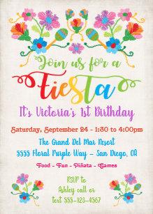 Convites Festa de aniversário mexicana da festa com bordado 240bb6e3cef