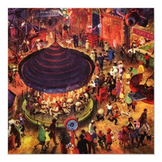 Convites festivos retros das noites do carnaval do