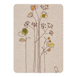 Convites florais de Mitzvah do bastão do bar do