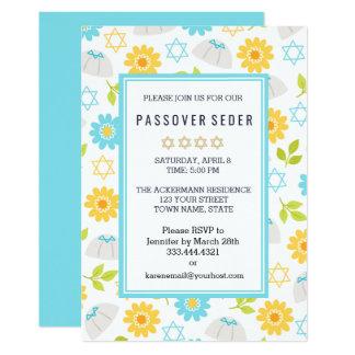 Convites florais de Sedar do Passover da primavera