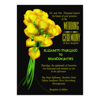 Convites florais do casamento do preto dos rosas