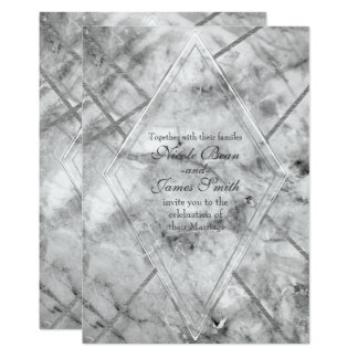 Convites Glam de mármore cinzentos & brancos do