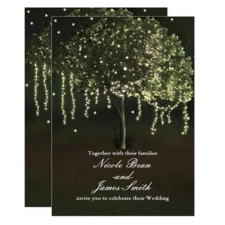 Convites iluminados Mossy rústicos do casamento da