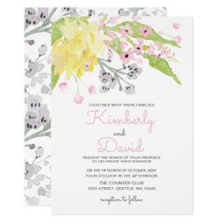 convites ingleses do casamento do jardim