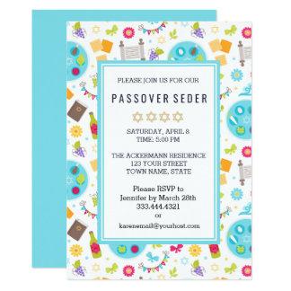 Convites modernos coloridos de Sedar do Passover