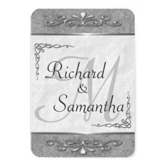Convites ornamentado customizáveis do casamento de