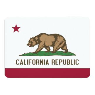 Convites patrióticos com a bandeira de Califórnia