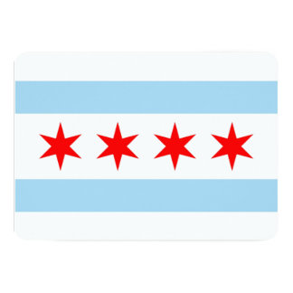 Convites patrióticos com a bandeira de Chicago