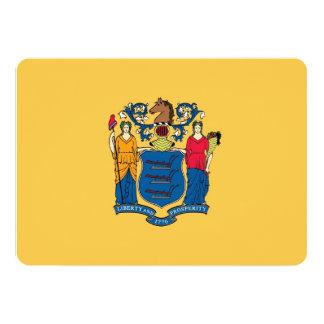 Convites patrióticos com a bandeira de New-jersey