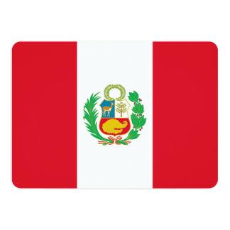 Convites patrióticos com bandeira de Peru