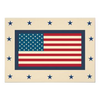 Convites patrióticos da bandeira americana