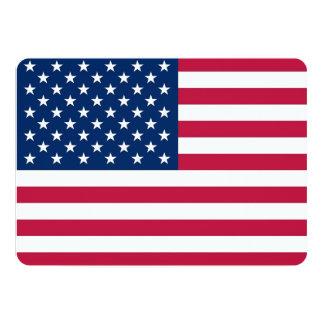Convites patrióticos, especiais com a bandeira dos