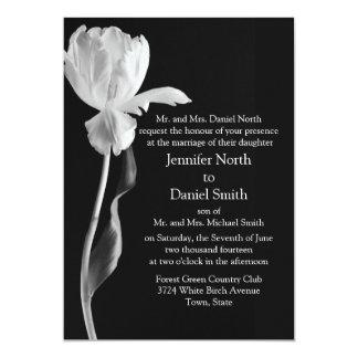 Convites preto e branco do casamento