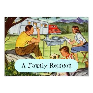 Convites retros da reunião de família do campista