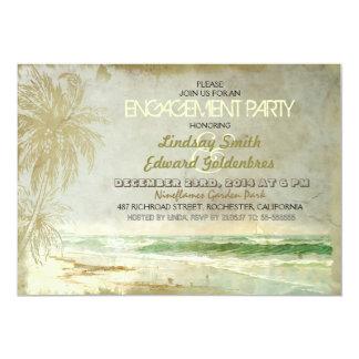 convites rústicos da festa de noivado da praia do