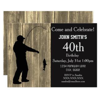 Convites rústicos do aniversário da pesca do país