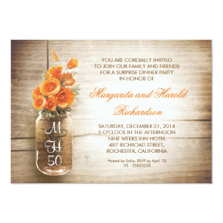 convites rústicos do aniversário de casamento do