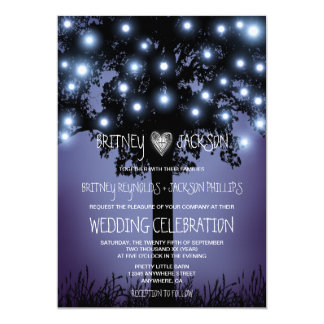 Convites rústicos do casamento da árvore da