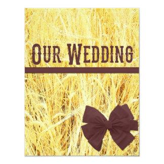 Convites rústicos do casamento de veludo e de