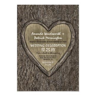 Convites rústicos do casamento do latido de
