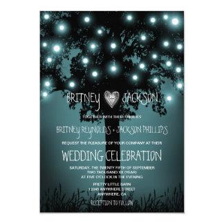 Convites rústicos Enchanted do casamento da árvore