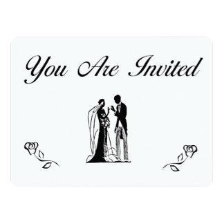 Convites simples e elegantes do casamento