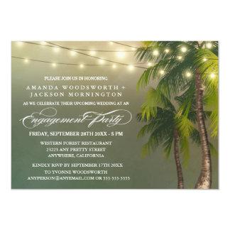 Convites tropicais da festa de noivado da palmeira