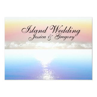 Convites tropicais do casamento da ilha da praia