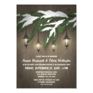 Convites verdes da festa de noivado da lanterna