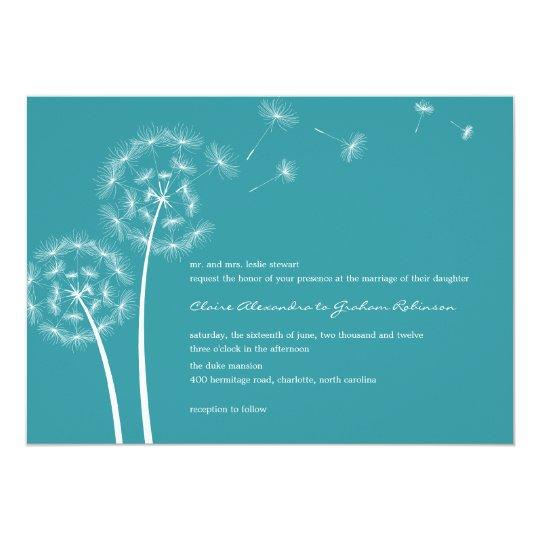 Convites Wedding do desejo do dente-de-leão