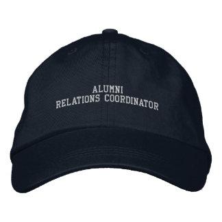 Coordenador das relações dos alunos boné bordado
