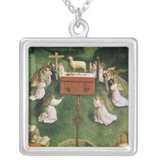 Cópia da adoração do cordeiro místico colares personalizados