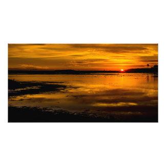 Cópia da foto do por do sol de Bolsa Chica Impressão De Foto