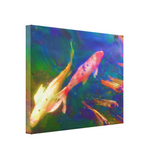 Cópia das canvas de pintura dos peixes de Koi