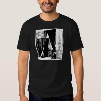 Cópia dianteira do esboço da cabine da foto do camiseta