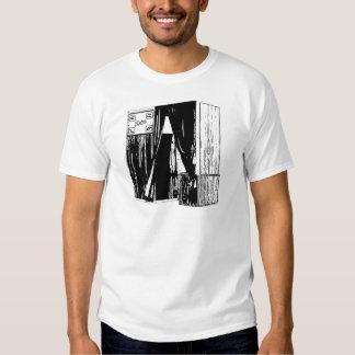 Cópia dianteira do esboço da cabine da foto do t-shirts