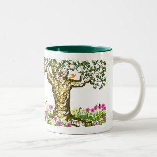 copo da árvore caneca dois tons
