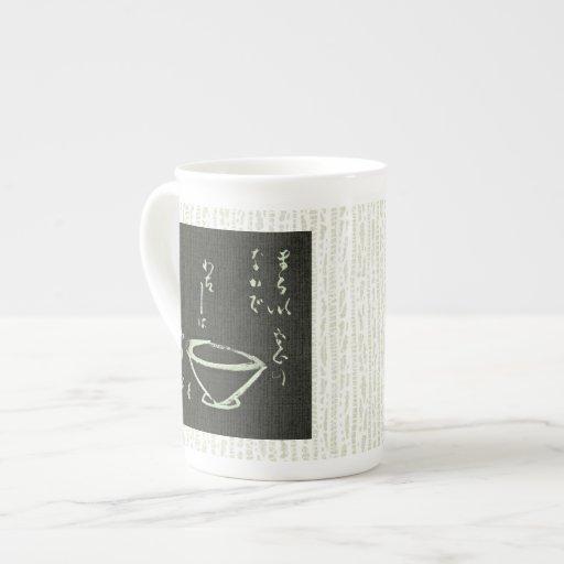 Copo da cerimónia de chá canecas bone china