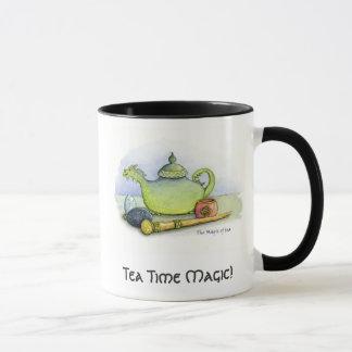 Copo da mágica do tempo do chá caneca