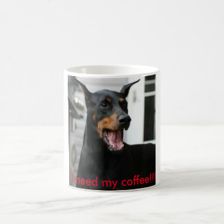Copo de café do Doberman Caneca