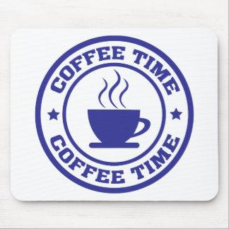 copo de café do tempo do café mouse pad