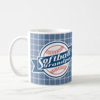 Copo de café do vovô do softball caneca de café