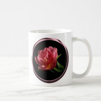 Copo de café dobro da tulipa da flor do primavera caneca