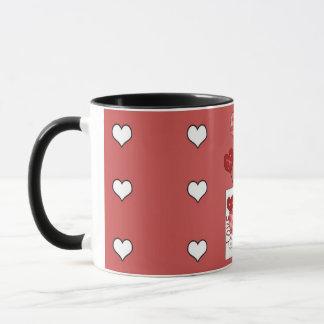 Copo de café dos corações do amor do dia dos caneca